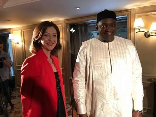 Linda Giguere et le président Adama Barrow